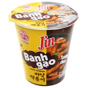 Bánh gạo tokbokki Ottogi Jin vị tương đen ly 82g