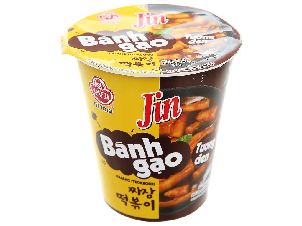 Bánh gạo tokbokki Ottogi Jin vị tương đen ly 82g 1
