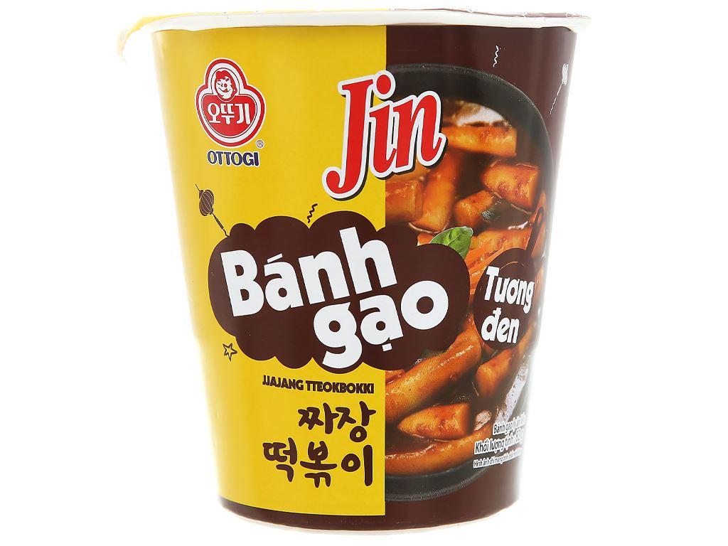 Bánh gạo tokbokki Ottogi Jin vị tương đen ly 82g 2