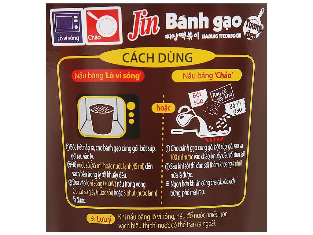 Bánh gạo tokbokki Ottogi Jin vị tương đen ly 82g 6