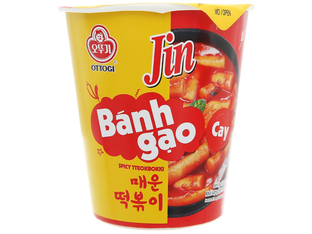 Bánh gạo tokbokki Ottogi Jin cay ly 82g 2