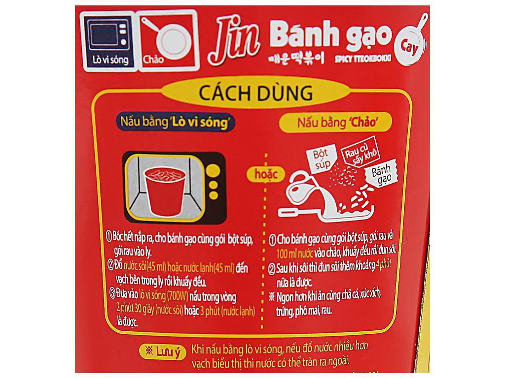 Bánh gạo tokbokki Ottogi Jin cay ly 82g 5
