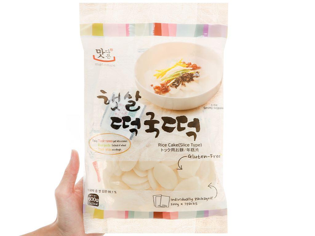Bánh gạo cắt lát tokpokki Matamun gói 600g 4