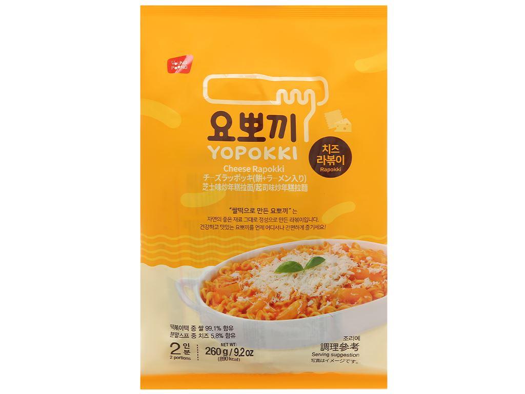 Bánh gạo rapokki Yopokki vị phô mai gói 260g 1