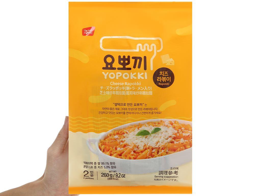 Bánh gạo rapokki Yopokki vị phô mai gói 260g 4