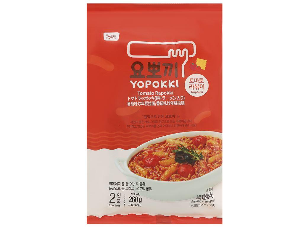 Bánh gạo rapokki Yopokki vị cà chua gói 260g 1