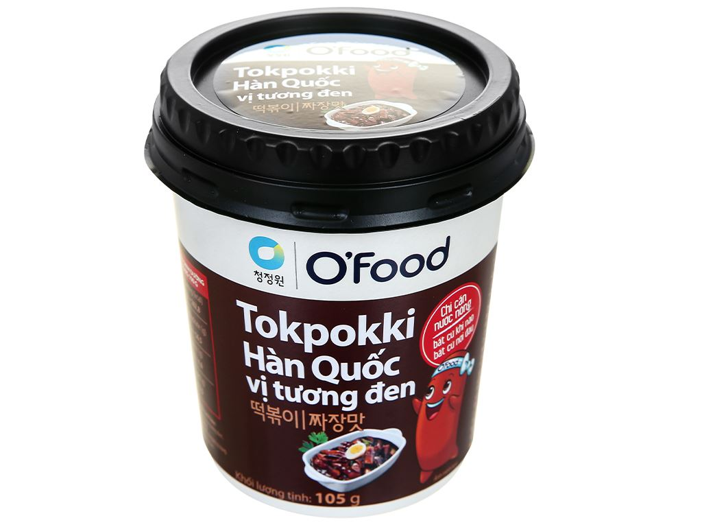 Bánh gạo tokpokki O'food vị tương đen ly 105g 1
