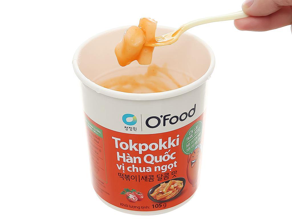 Bánh gạo tokpokki O'food vị chua ngọt ly 105g 7