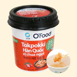 Bánh gạo tokpokki O'food vị chua ngọt ly 105g