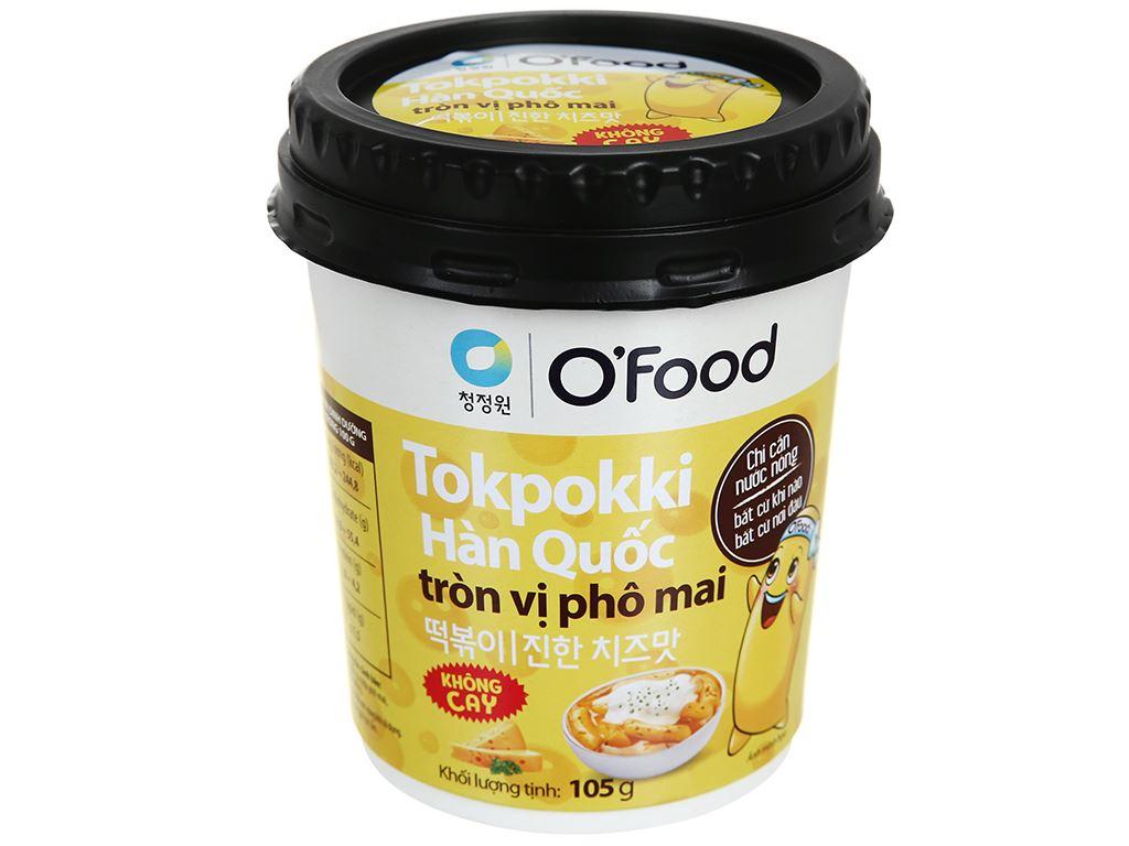 Bánh gạo tokpokki tròn O'food vị phô mai ly 105g 1