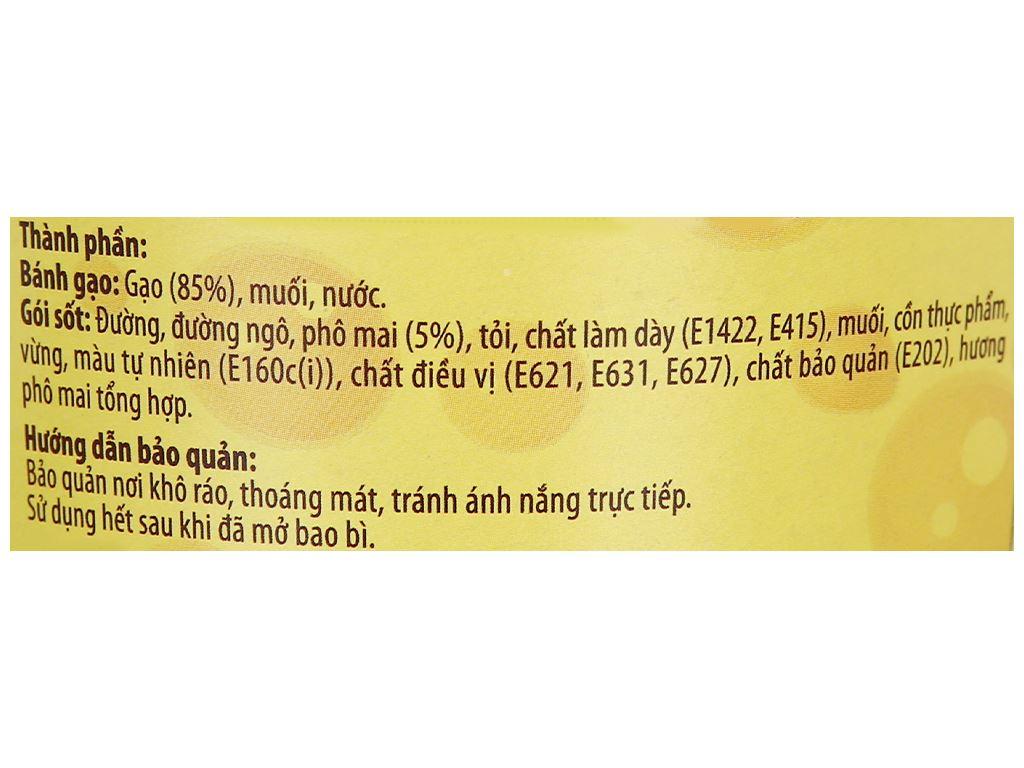 Bánh gạo tokpokki tròn O'food vị phô mai ly 105g 5