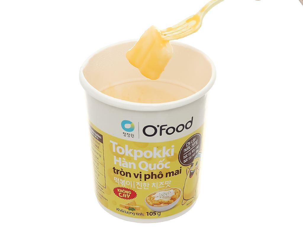 Bánh gạo tokpokki tròn O'food vị phô mai ly 105g 8