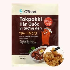 Bánh gạo tokpokki O'food vị tương đen gói 140g