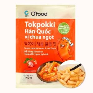 Bánh gạo tokpokki O'food vị chua ngọt gói 140g