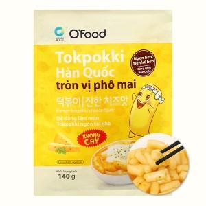 Bánh gạo tokpokki O'food tròn vị phô mai gói 140g