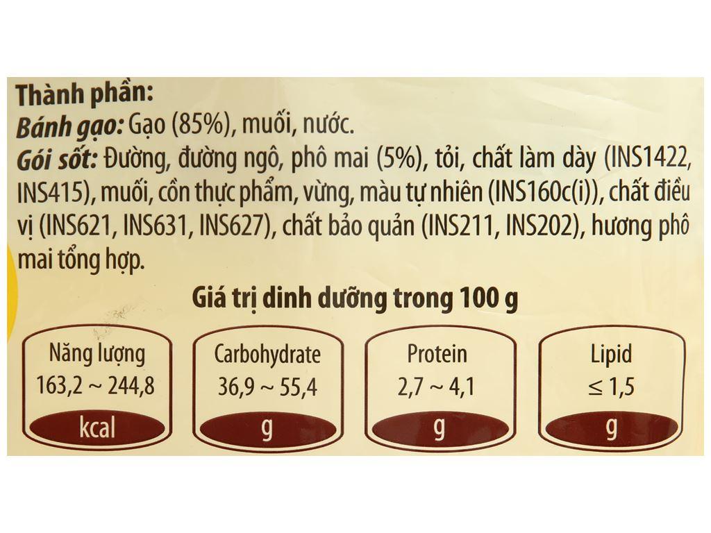Bánh gạo tokpokki O'food tròn vị phô mai gói 140g 3