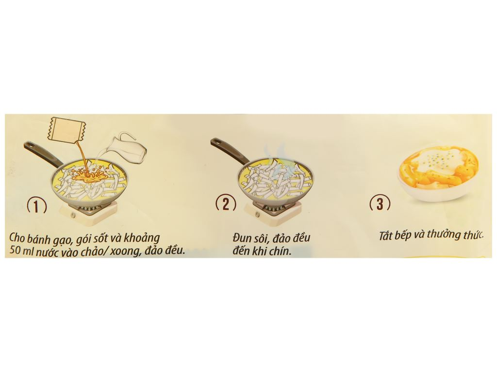 Bánh gạo tokpokki O'food tròn vị phô mai gói 140g 4