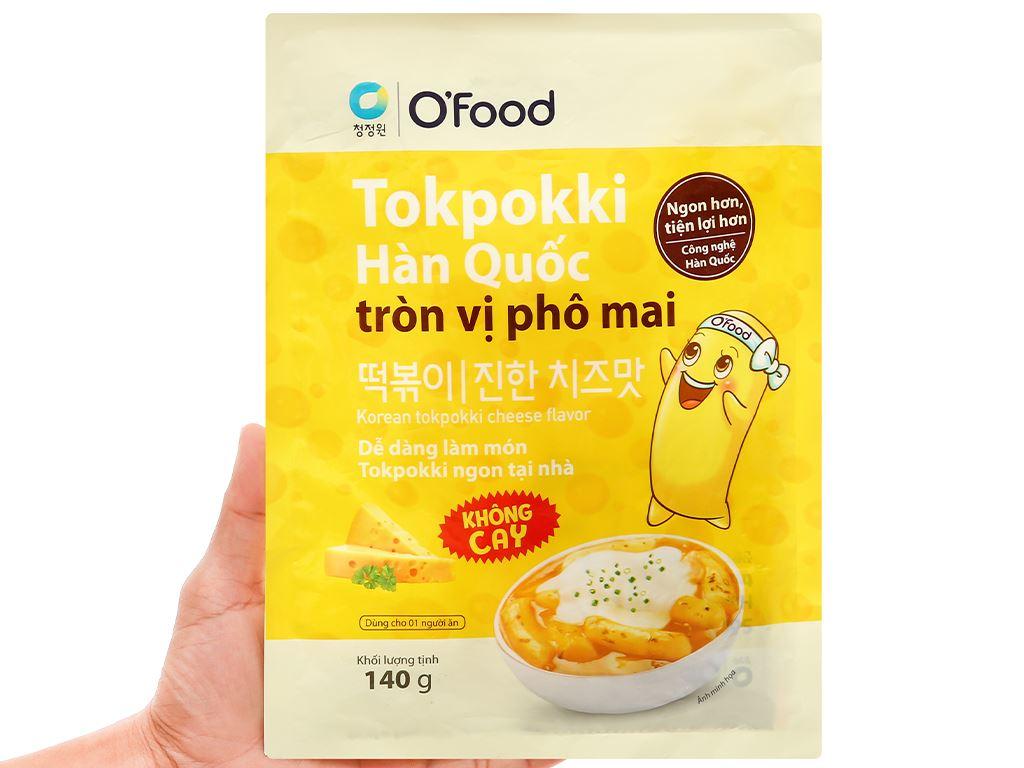 Bánh gạo tokpokki O'food tròn vị phô mai gói 140g 5