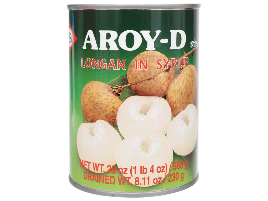 Nhãn ngâm đường Aroy-D hộp 565g 1