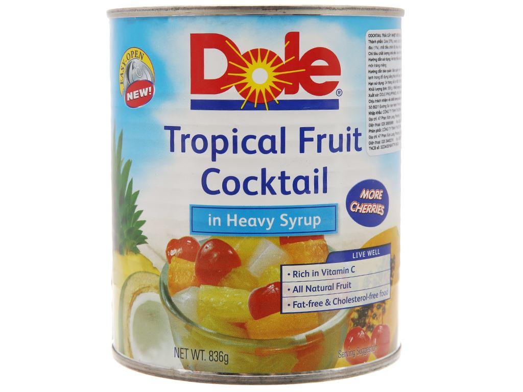 Cocktail trái cây nhiệt đới Dole hộp 836g 2
