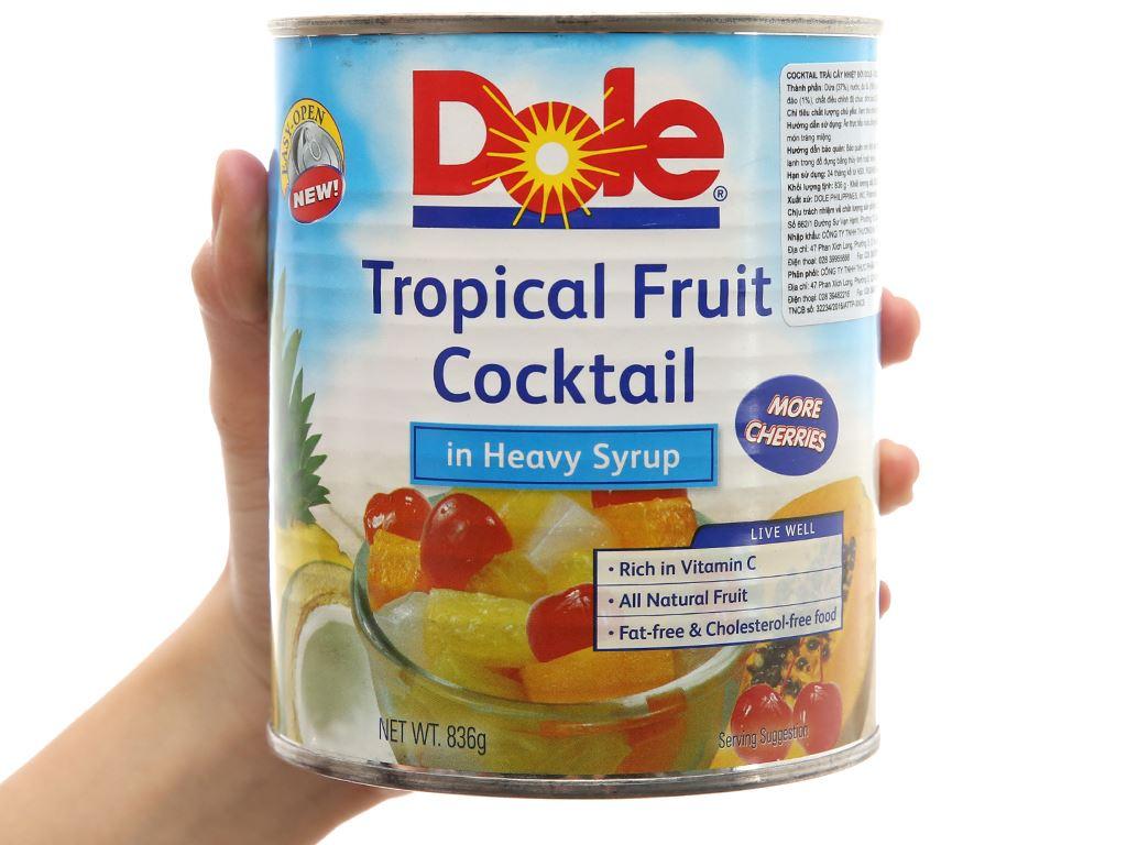 Cocktail trái cây nhiệt đới Dole hộp 836g 4
