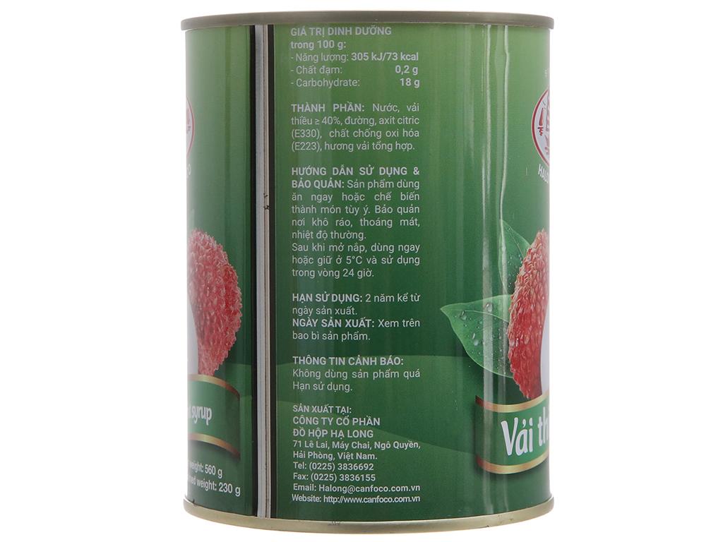Vải thiều nước đường Hạ Long 560g 3