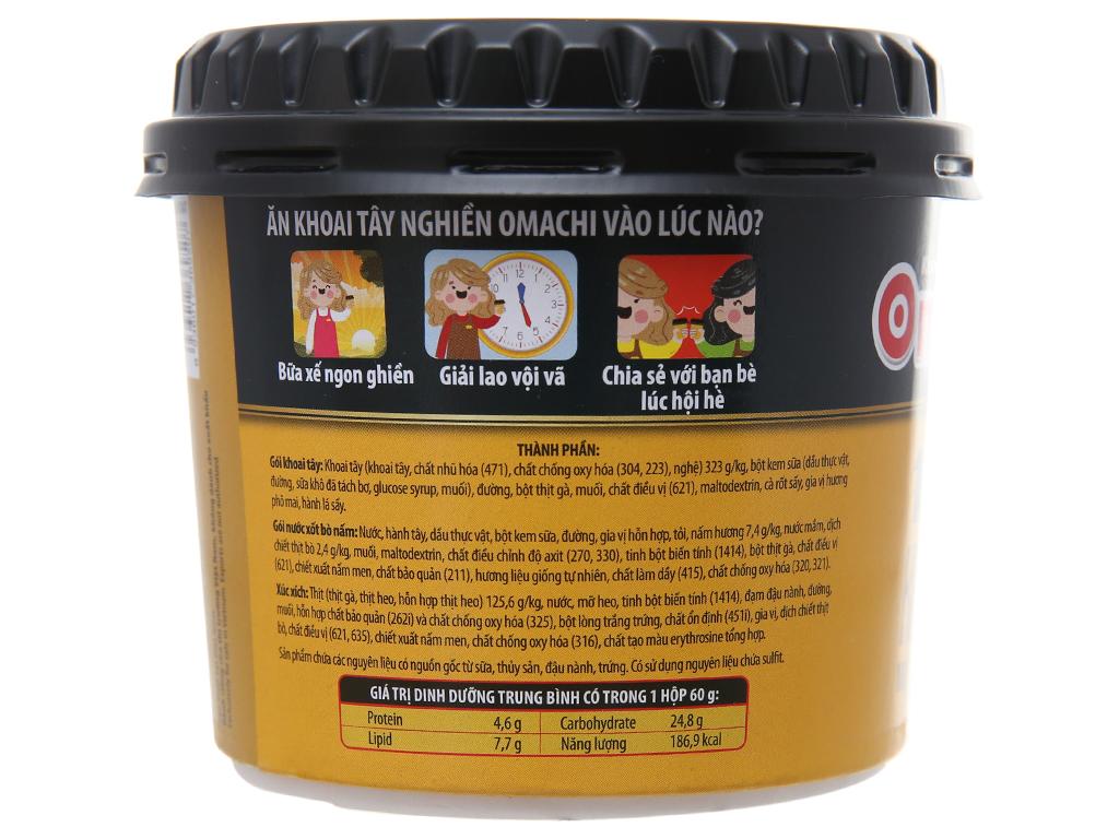 Khoai tây nghiền nước sốt bò nấm Omachi hộp 60g 2