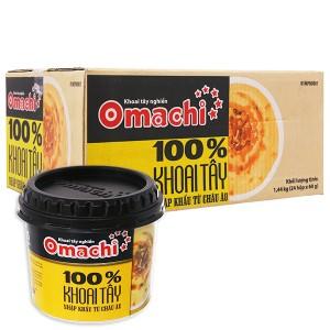 Thùng khoai tây nghiền nước sốt bò nấm Omachi hộp 60g (24 hộp)