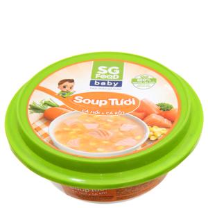 Soup tươi cá hồi, cà rốt SG Food baby hộp 240g