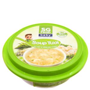 Soup tươi sò điệp, nấm kim châm SG Food baby hộp 240g
