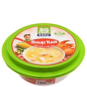 Soup tươi cua, hạt sen SG Food baby hộp 240g