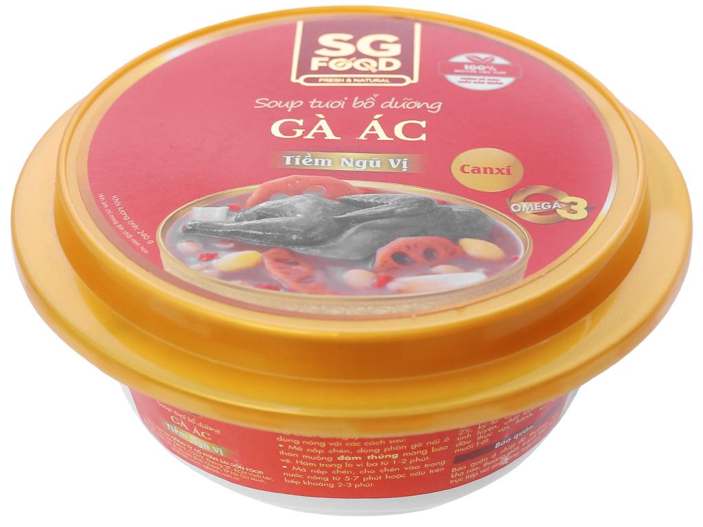 Soup tươi gà ác tiềm ngũ vị SG Food hộp 240g 1
