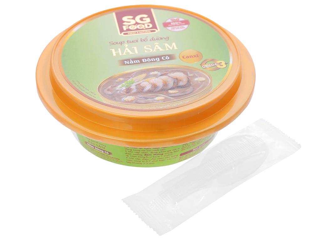 Soup tươi hải sâm nấm đông cô SG Food hộp 240g 4