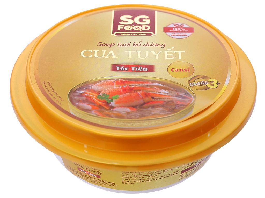 Soup tươi cua tuyết tóc tiên SG Food hộp 240g 1