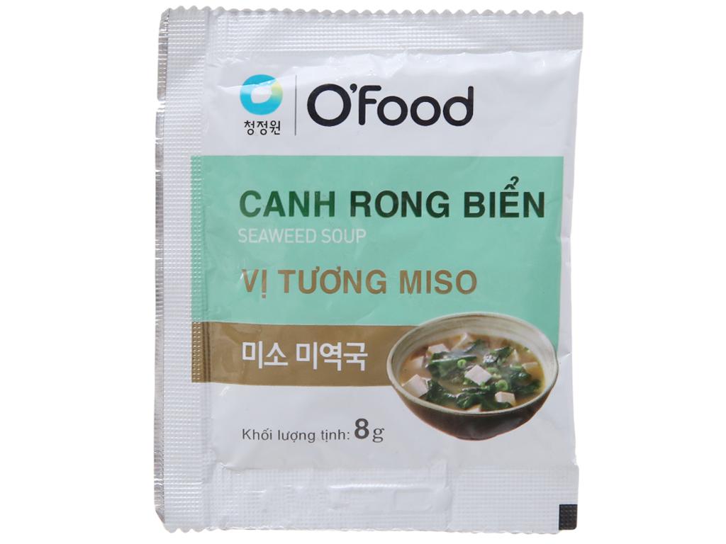 Canh rong biển vị tương miso O Food gói 8g 1