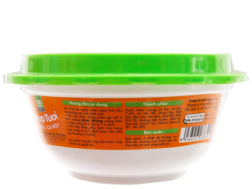 Soup tươi cá hồi và cà rốt SG Food hộp 240g 4