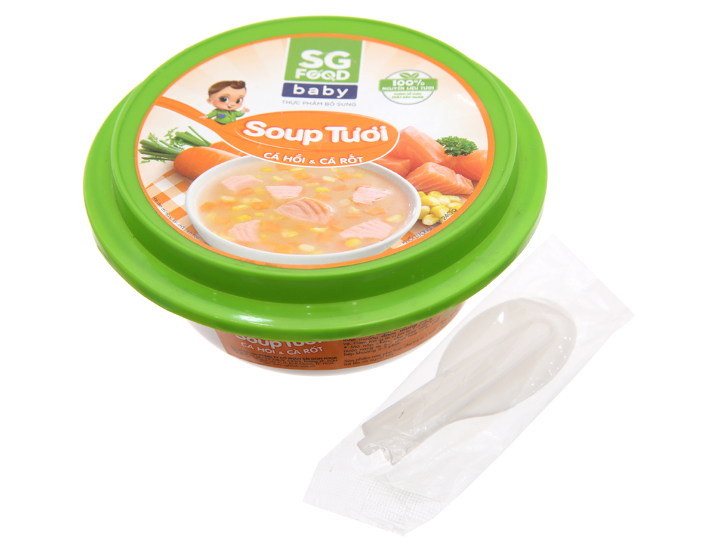 Soup tươi cá hồi và cà rốt SG Food hộp 240g 3