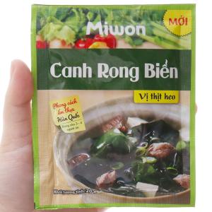 Canh rong biển vị thịt heo Miwon gói 20g