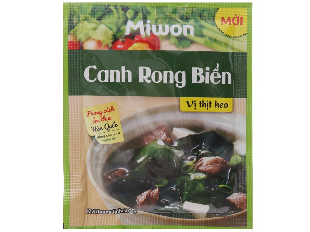 Canh rong biển vị thịt heo Miwon gói 20g 2