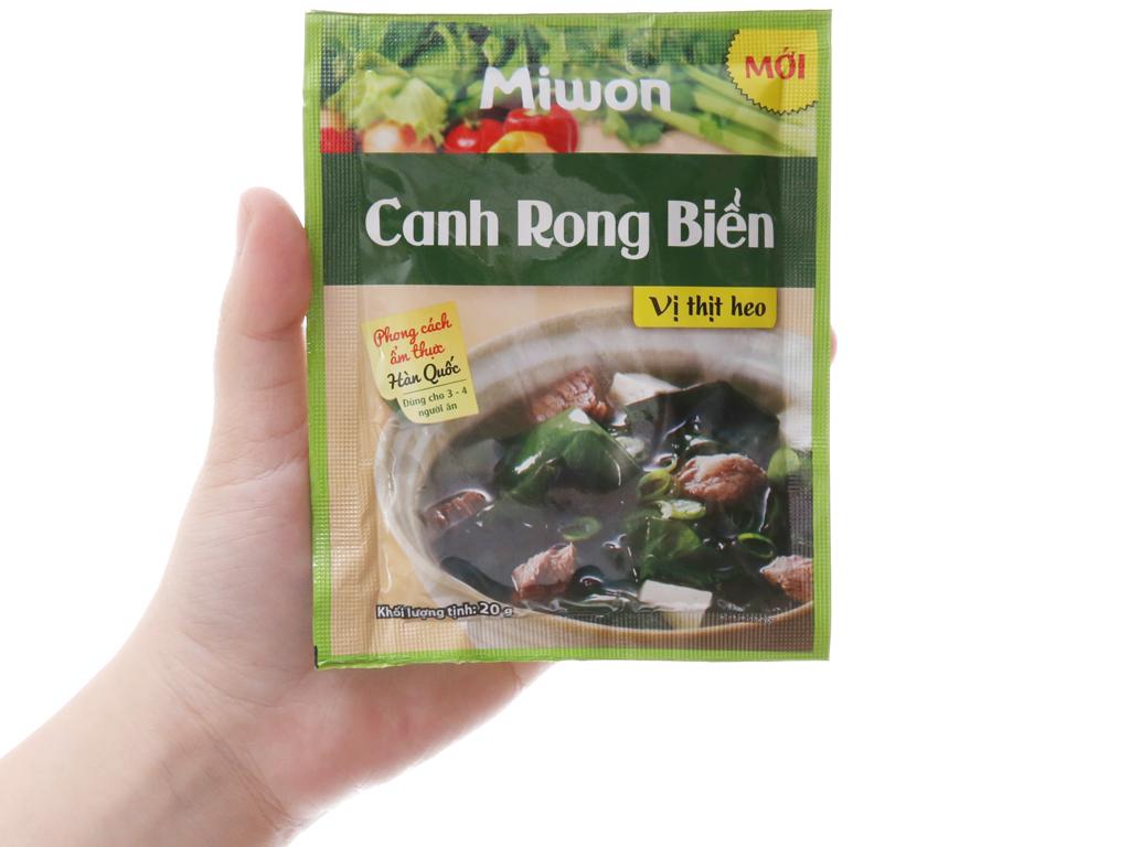 Canh rong biển vị thịt heo Miwon gói 20g 4