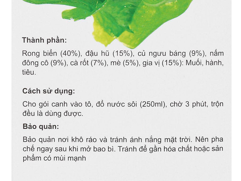 Hộp 10 gói canh dưỡng sinh rong biển Tâm Minh 5.5g 7