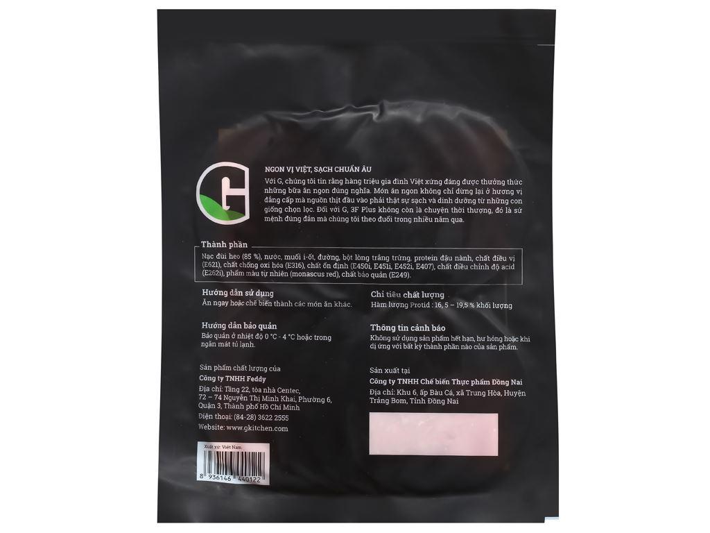 Jambon xông khói G Kitchen gói 200g 2
