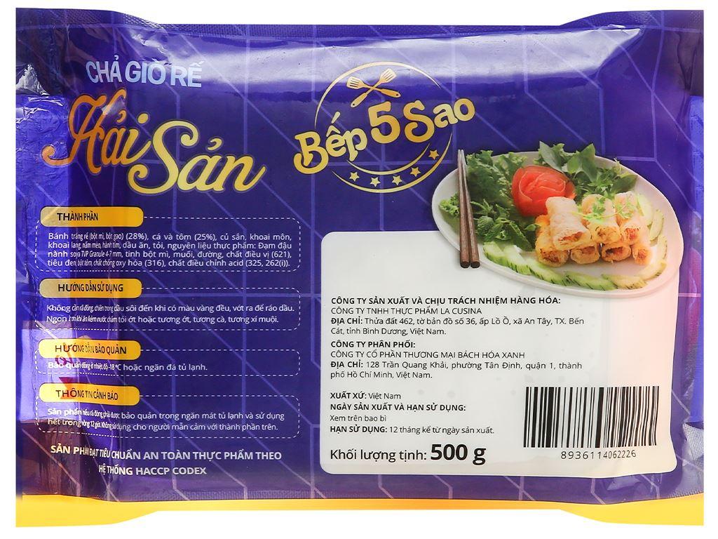 Chả giò rế hải sản đặc biệt Bếp 5 sao gói 500g 2
