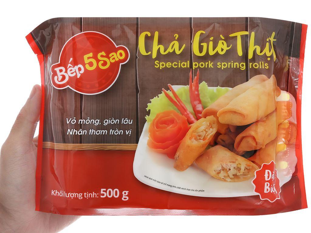 Chả giò thịt đặc biệt Bếp 5 sao gói 500g 4
