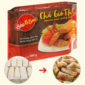 Chả giò thịt đặc biệt Bếp 5 sao gói 500g
