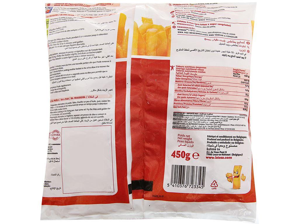 Khoai tây sợi lớn đông lạnh Lutosa gói 450g 2