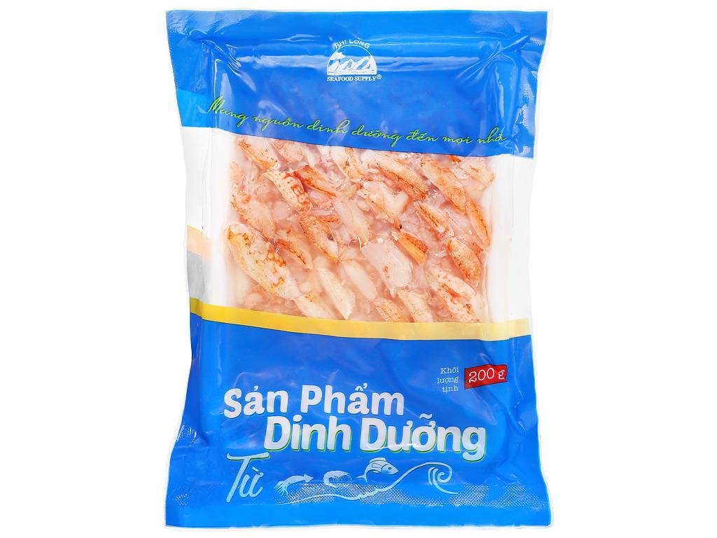 Thịt càng ghẹ Phi Long khay 200g 4