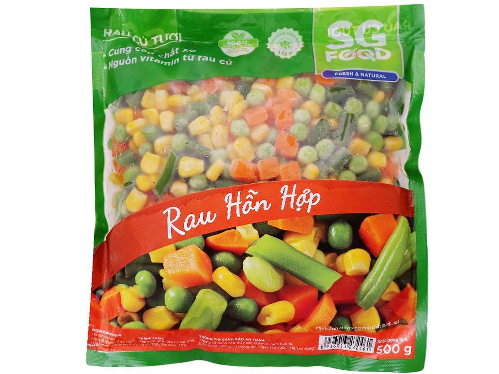 Rau quả hỗn hợp đông lạnh SG Food gói 500g 1