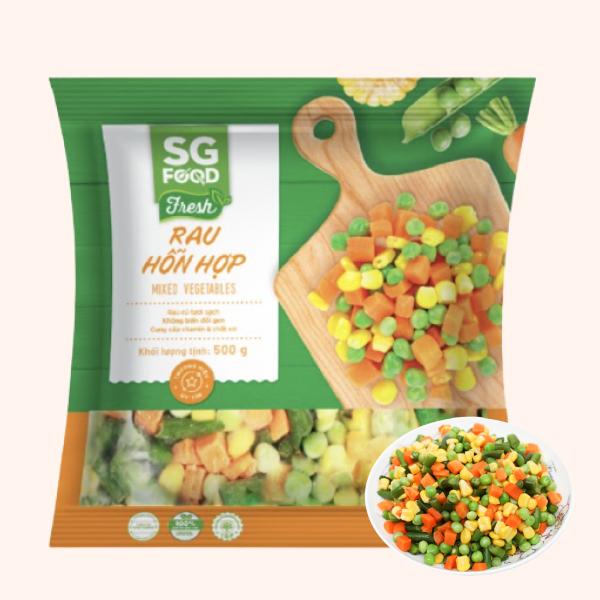 Rau quả hỗn hợp đông lạnh SG Food gói 500g