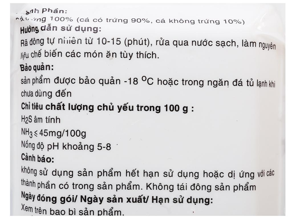 Cá trứng đông lạnh Phi Long khay 200g 3